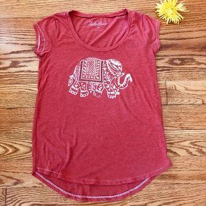 Lucky Brand Orange Elephant T-Shirt